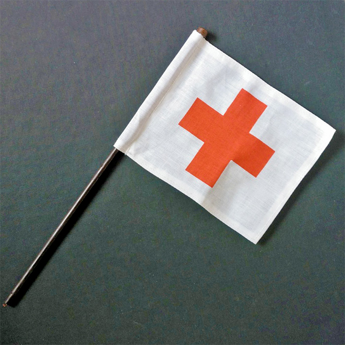 Geyperman red cross flag