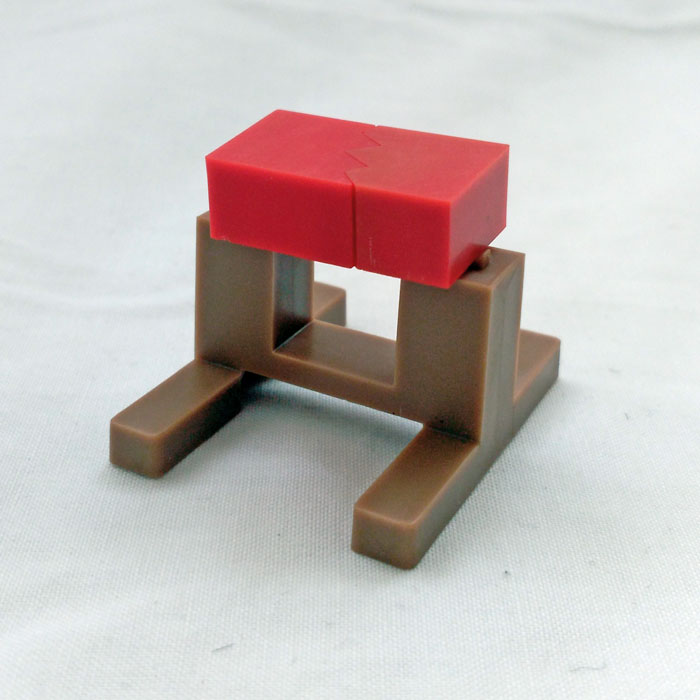 Geyperman Karate brick and stand