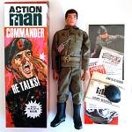 Action Man TALKING COMMANDER flocked hair